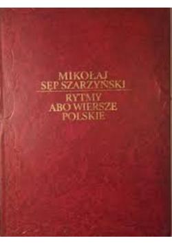 Rytmy Abo Wiersze Polskie Reprint 1601 r