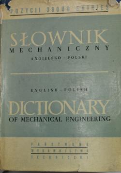 Słownik mechaniczny angielsko polski