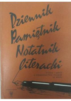 Dziennik pamiętnik notatnik literacki