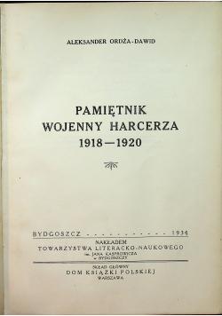 Pamiętnik wojenny harcerza 1918 - 1920 1931 r.