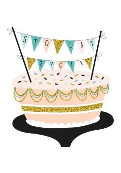Karnet UK 7939 - Urodziny. Tort