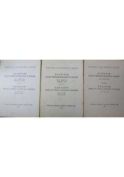 Słownik łaciny średniowiecznej w Polsce tom V 3 zeszyty