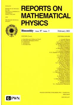 Reports On Mathematical Physics 87/1 Polska