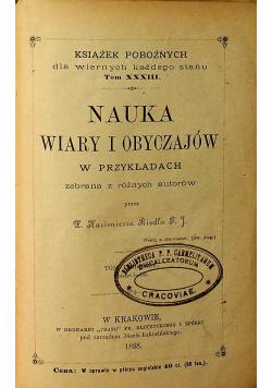 Nauka wiary i obyczajów tom 1 1888 r.