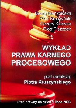 Wykład prawa karnego procesowego