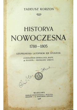 Historya nowoczesna 1788 1805 1906r.