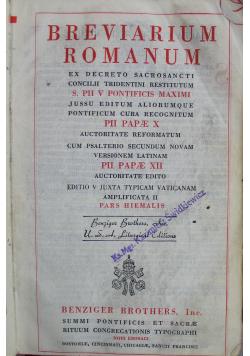 Breviarium Romanum 1941r