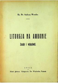 Liturgia na Ambonie 1933r.
