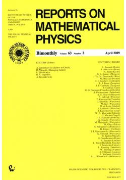 Reports on Mathematical Physics 63/2