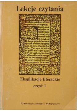 Lekcje czytania Eksplikacje literackie część 1