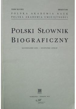 Polski Słownik Biograficzny zeszyt 193