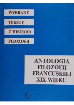 Antologia filozofii francuskiej XIX wieku