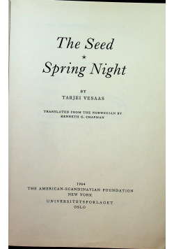 The Seed Spronng Night