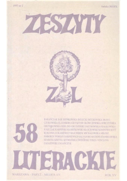 Zeszyty literackie 58 2/1997