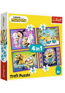 Puzzle 4w1 W świecie Minionków TREFL