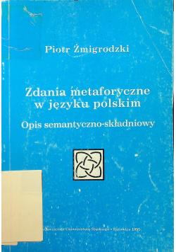 Zdania metaforyczne w języku polskim