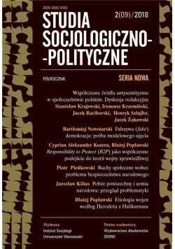 Studia Socjologiczno-Polityczne... nr 2(09)/2018