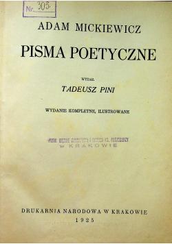 Mickiewicz Pisma Poetyczne 1925 r.