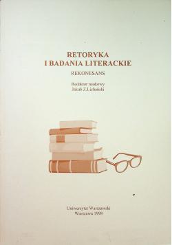 Retoryka i badania literackie Rekonesans