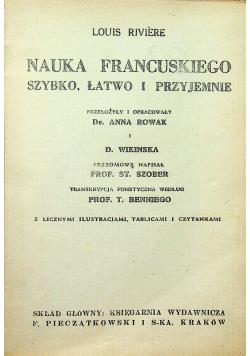 Nauka francuskiego szybko łatwo i przyjemnie 1947 r.