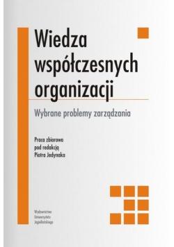 Wiedza współczesnych organizacji