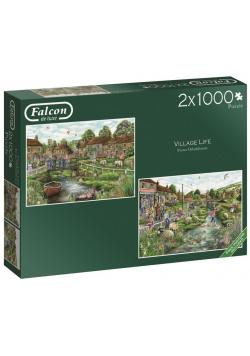 Puzzle 2x1000 Falcon Życie na wsi G3