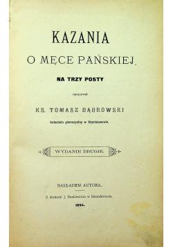 Kazania o męce pańskiej na trzy posty 1894 r.