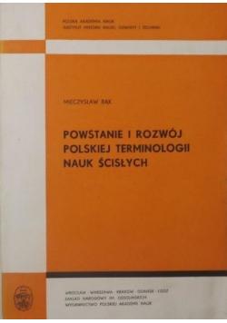 Powstanie i rozwój polskiej terminologii nauk ścisłych