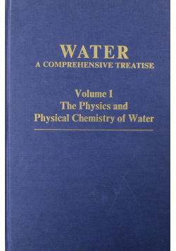 Water a comprehensive treatise Volume 1