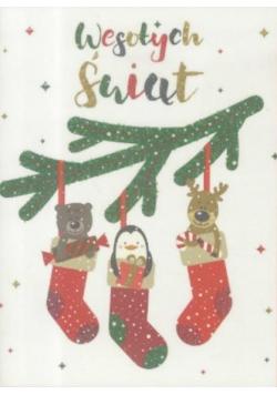 Karnet B6 Boże Narodzenie - Zwierzątka
