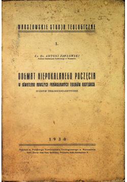 Dogmat niepokalanego poczęcia w oświetleniu nowszych prawosławnych teologów rosyjskich 1930r