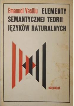 Elementy semantycznej teorii języków naturalnych