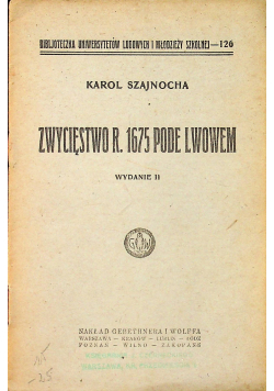 Zwycięstwo r 1675 Pode Lwowem 1925 r