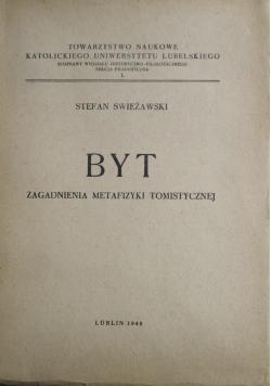 Byt Zagadnienia Metafizyki tomistycznej 1948 r.
