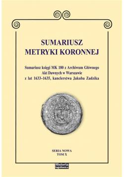 Sumariusz Metryki Koronnej T.10