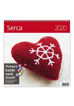 Kalendarz wieloplanszowy Serca 30x30 2020