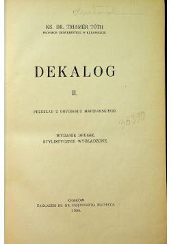 Dekalog  2 1934 r
