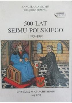 500 lat sejmu polskiego 1493 - 1993