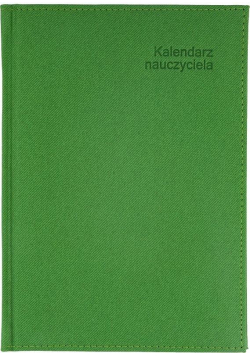 Kalendarz Nauczyciela A5 2020/2021 Demin zielony