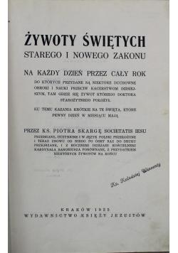 Żywot Świętych Starego i Nowego Zakonu 1935 r.