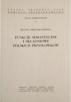Funkcje semantyczne i składniowe polskich przysłówków