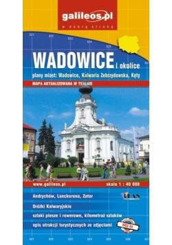Plan mista - Wadowice i okolice 1:40 000