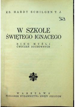 W szkole świętego Ignacego 1934r