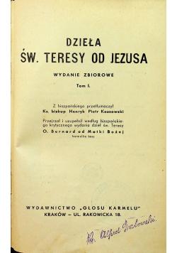 Dzieła św Teresy od Jezusa 1939 r