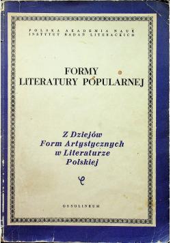 Formy Literatury Popularnej tom XXXII