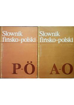 Słownik fińsko polski tom I i II