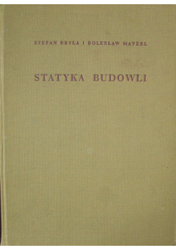 Statyka Budowli