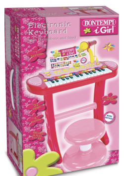 Organy elektroniczne 31 klawiszy z mikrofonem statywem i stołkiem