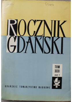 Rocznik Gdański tom XXXI zeszyt 2