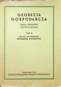 Geodezja gospodarcza Tom II